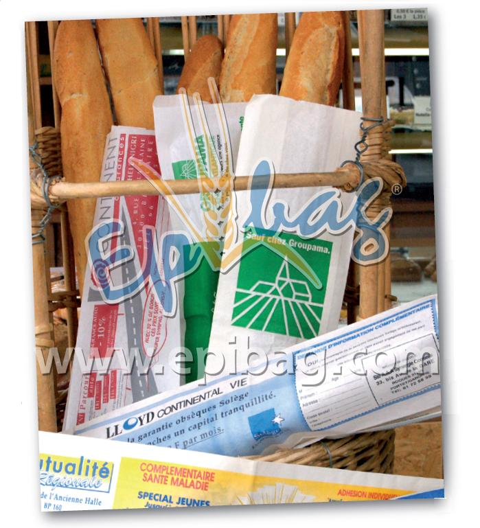 publicité ciblée sur sac à pain