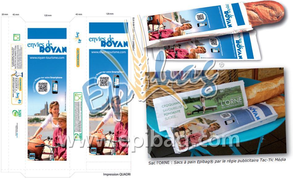 publicité sur sacs à pain Royan